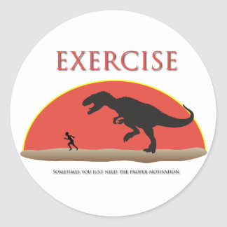 Exercise - Proper Motivation Round Sticker