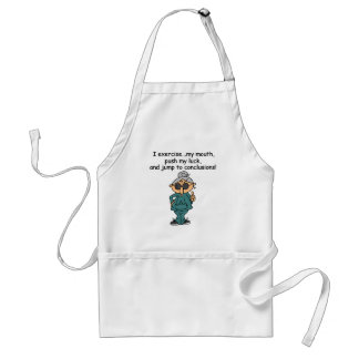 Exercise Push Jump Humor Aprons
