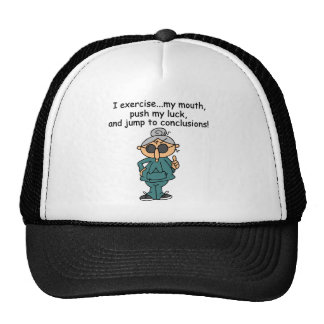 Exercise, Push, Jump Humor Hats