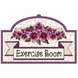 """Exercise Room"" - Decorative Sign 01 Standing Photo Sculpture"