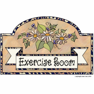 """Exercise Room"" - Decorative Sign Photo Cut Out"