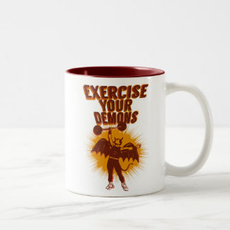 Exercise Your Demons Two-Tone Coffee Mug