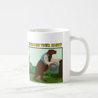 Exercise Your Right Bear Basic White Mug