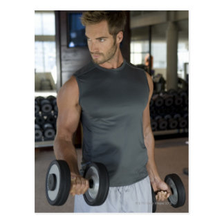 Exercising, Gym, Sport, Man, Body care, Day, Postcard