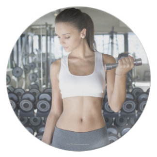 Exercising, Gym, Sport, Woman, Body care, Day, Plates
