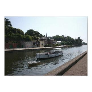 Exeter canal, Devon, UK 13 Cm X 18 Cm Invitation Card