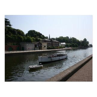 Exeter canal, Devon, UK Postcard