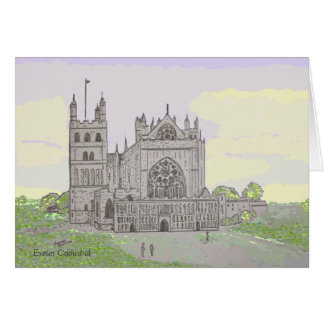 Exeter Cathedral Blank Card