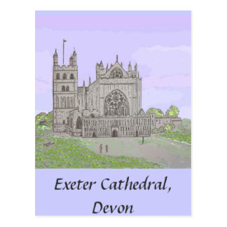 Exeter Cathedral Post card