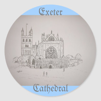 Exeter Cathedral Round Sticker