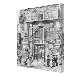 Exeter Change showing the entrance Stretched Canvas Print