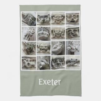 Exeter gargoyles teatowel tea towel
