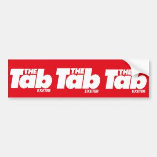 Exeter Tab Bumper Sticker