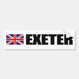 Exeter UK Flag Bumper Sticker