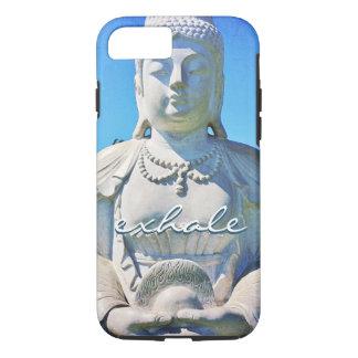 """Exhale"" Hawaii white Buddha photo cell phone case"