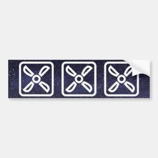 Exhaust Fans Symbol Bumper Sticker