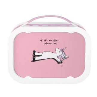 Exhausted Unicorn Lunch Box