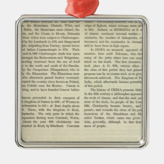 Exhibiting The Empire of Charlemagne 814 AD 2 Christmas Ornament