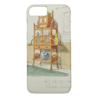 Exhibition Cabinet, c.1860s-70s (w/c & pencil on p iPhone 8/7 Case