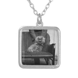 Exhibition Cat Club - Mondial 493 Square Pendant Necklace