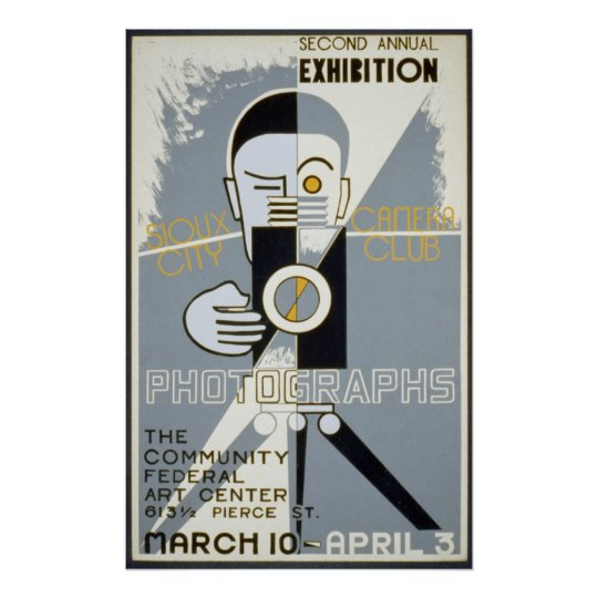 Exhibition for Sioux City Camera Club WPA Vintage
