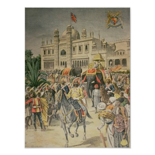 Exhibition of 1900: the Anglo-Indian Pavilion Poster