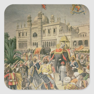 Exhibition of 1900 the Anglo-Indian Pavilion Square Sticker