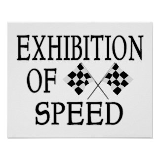 Exhibition Of Speed Checkered Race Flags Poster