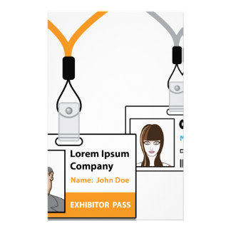 Exhibition pass stationery paper