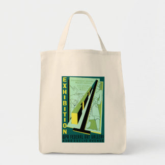 Exhibition: WPA Federal Art Gallery Grocery Tote Bag