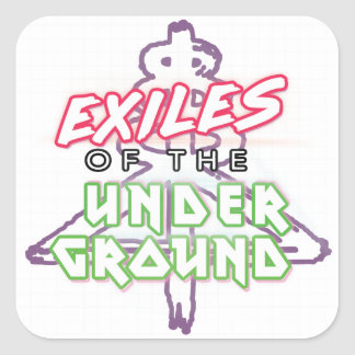 Exiles of the Underground White 20 Stickers Sheet