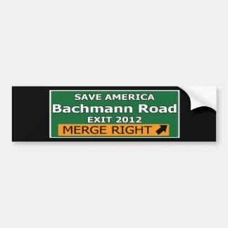 Exit 2012 Bachmann Road Bumper Sticker
