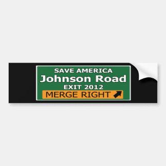 Exit 2012 Johnson Road Bumper Sticker