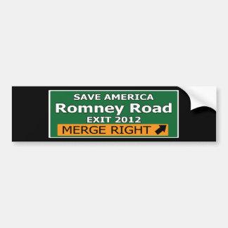 Exit 2012 Romney Road Bumper Sticker
