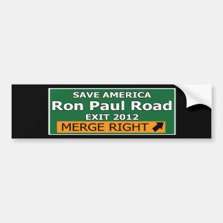 Exit 2012 Ron Paul Road Bumper Sticker