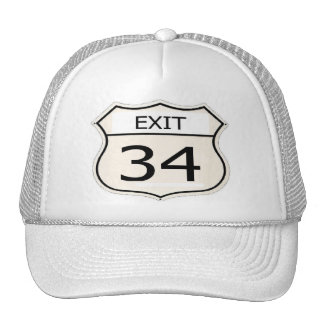 Exit 34 Trucker Style Hat