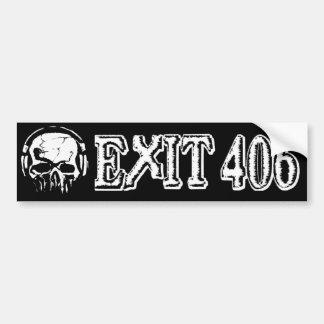 Exit 406 Black Skull Bumper Sticker! Bumper Sticker