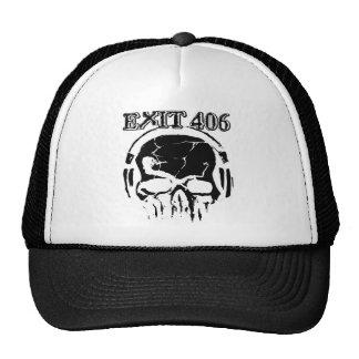 Exit 406 Black Skull Trucker Hat Trucker Hats
