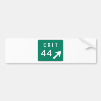 Exit 44 Street Sign Bumper Stickers