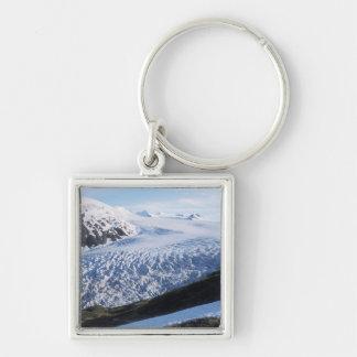 Exit Glacier in Kenai Fjords National Park, Silver-Colored Square Key Ring