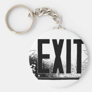 Exit Basic Round Button Key Ring