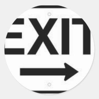 Exit Round Sticker