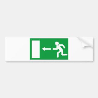 Exit Sign Bumper Sticker