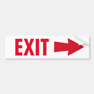 Exit Sign Bumper Sticker