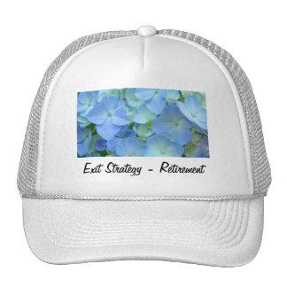 Exit Strategy Retirement hats Blue Floral Flowers
