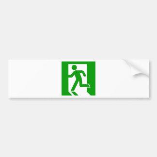 Exit Symbol Bumper Sticker
