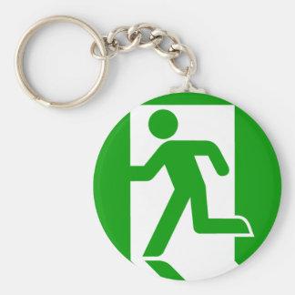 Exit Symbol Key Ring
