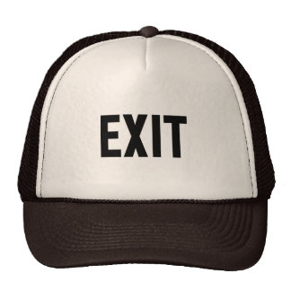 Exit, Way Out Trucker Hat
