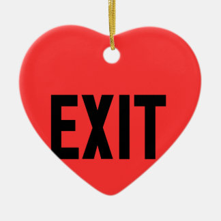 Exit, Way Out Ceramic Heart Decoration