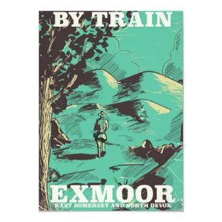 Exmoor National Park vintage travel poster 11 Cm X 16 Cm Invitation Card